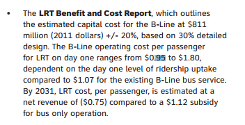 An excerpt from the Rapid Ready Report on LRT for Hamilton.