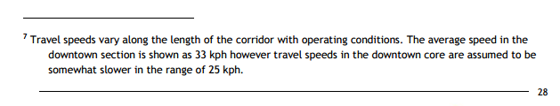 The footnote contradicts the speeds indicated on the above table.