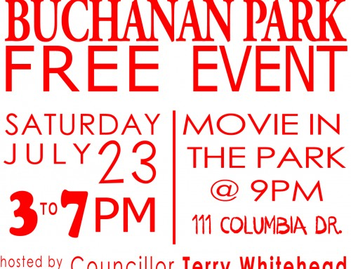 Grand Opening of Buchanan park Splash Pad and Movie in the Park